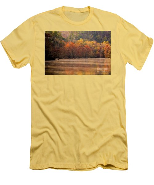 Men's T-Shirt (Slim Fit) featuring the photograph Whispering Mist by Iris Greenwell
