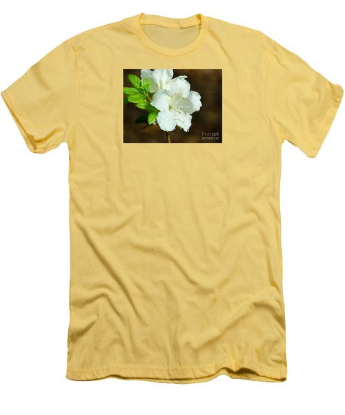 Men's T-Shirt (Slim Fit) featuring the photograph White Azalea  by Rand Herron