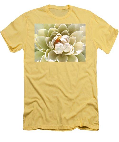 White Blooming Lotus Men's T-Shirt (Athletic Fit)