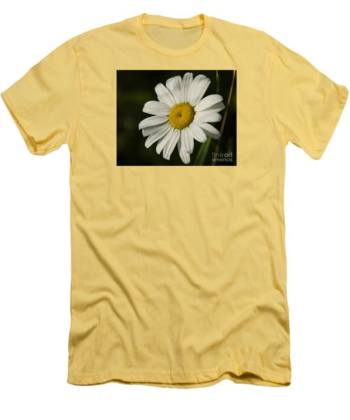 White Daisy Flower Men's T-Shirt (Athletic Fit)