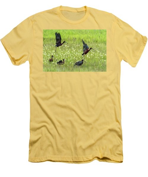 White-faced Ibis Rising, No. 1 Men's T-Shirt (Athletic Fit)