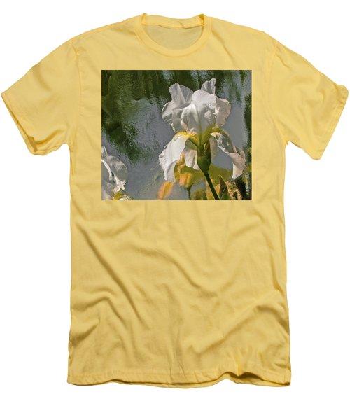 White Iris Men's T-Shirt (Athletic Fit)