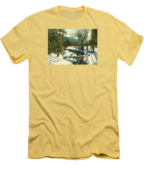 White Mountain Winter Creek Men's T-Shirt (Athletic Fit)