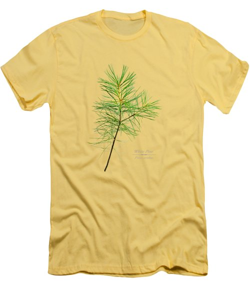 Men's T-Shirt (Slim Fit) featuring the mixed media White Pine by Christina Rollo