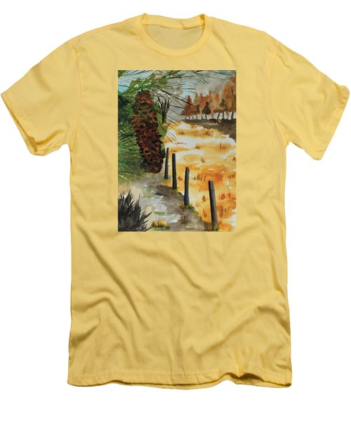 White Pine Cone Men's T-Shirt (Slim Fit) by Jack G  Brauer