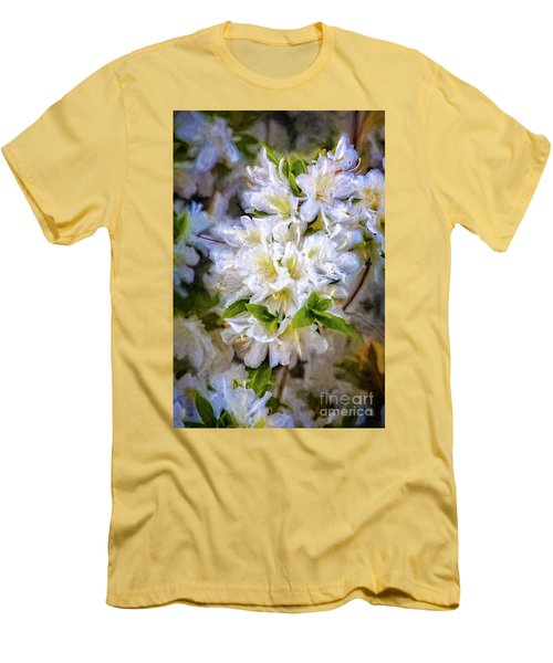 White Rhododendron Men's T-Shirt (Athletic Fit)
