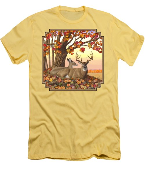 Whitetail Deer - Hilltop Retreat Men's T-Shirt (Athletic Fit)