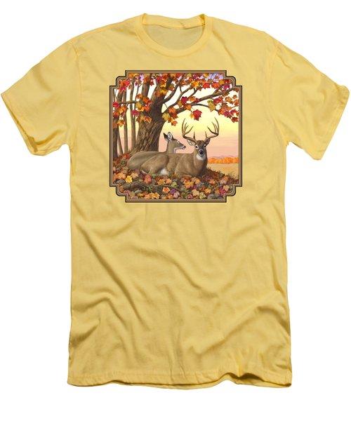 Whitetail Deer - Hilltop Retreat Men's T-Shirt (Athletic Fit)