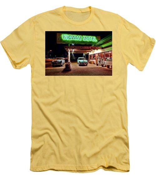 Men's T-Shirt (Slim Fit) featuring the photograph Wigwam Motel by Jason Abando