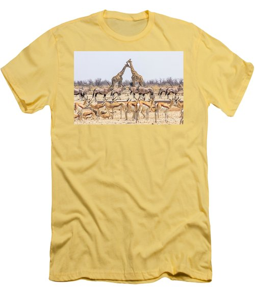 Wild Animals Pyramid Men's T-Shirt (Athletic Fit)