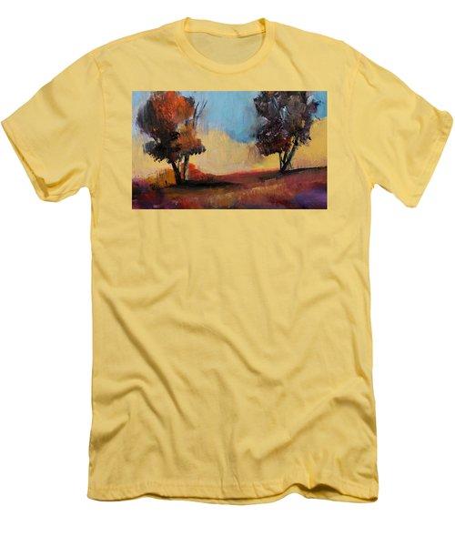 Wild Beautiful Places Trees Landscape Men's T-Shirt (Slim Fit) by Michele Carter