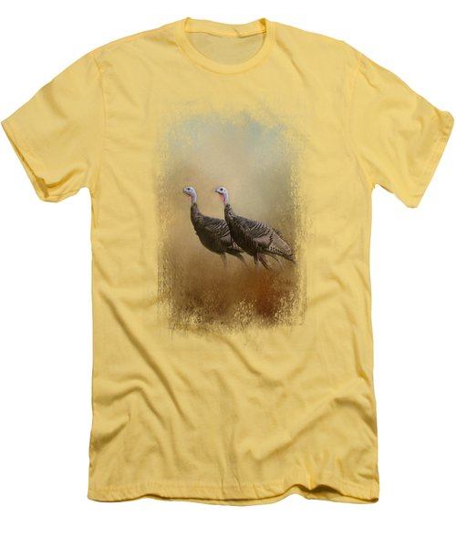Wild Turkey At Shiloh Men's T-Shirt (Slim Fit) by Jai Johnson
