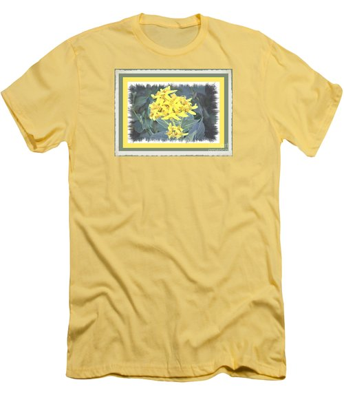 Men's T-Shirt (Slim Fit) featuring the photograph Wild Yellow Weed by Shirley Moravec