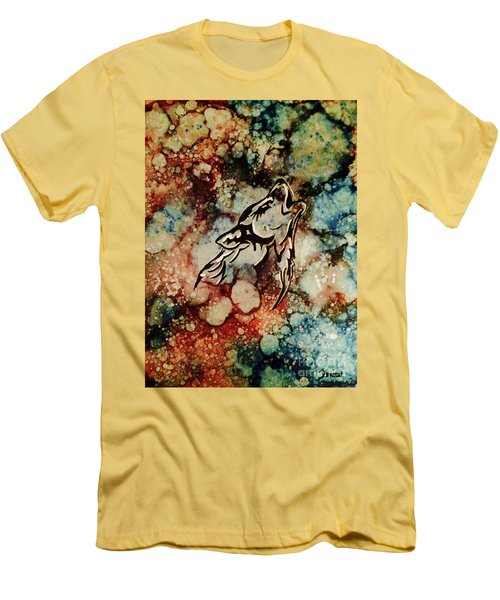 Men's T-Shirt (Athletic Fit) featuring the painting Wilderness Warrior by Denise Tomasura
