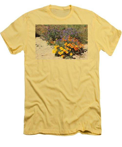 Wildflowers In Spring Men's T-Shirt (Slim Fit) by Viktor Savchenko