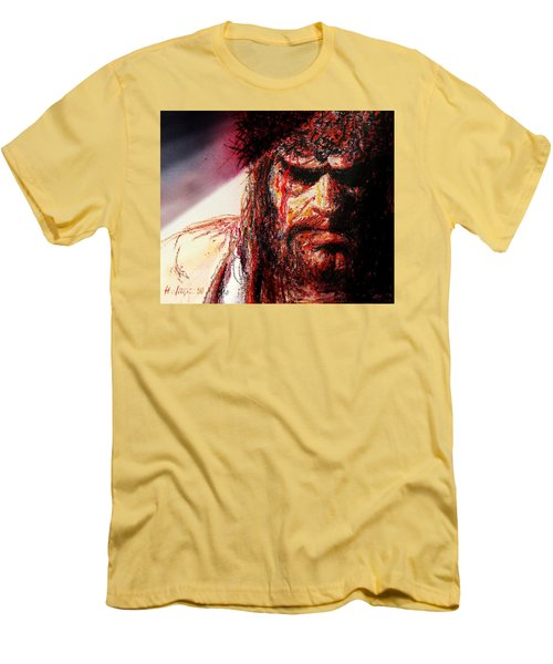 Willem Dafoe - Actor Men's T-Shirt (Slim Fit) by Hartmut Jager