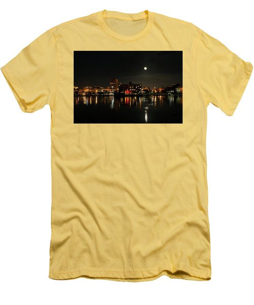 Wilmington Nc At Night Men's T-Shirt (Slim Fit) by Denis Lemay