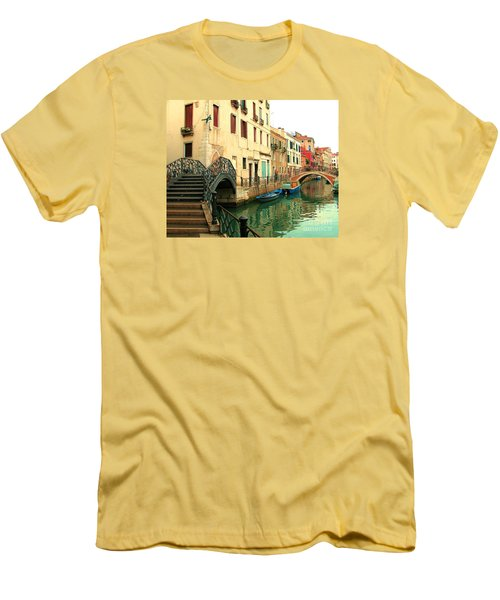 Winding Through The Watery Streets Of Venice Men's T-Shirt (Slim Fit) by Barbie Corbett-Newmin