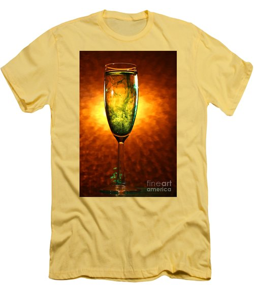 Wine Glass  Men's T-Shirt (Athletic Fit)