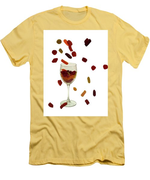 Men's T-Shirt (Slim Fit) featuring the photograph Wine Gums Sweets by David French