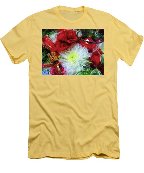 Men's T-Shirt (Athletic Fit) featuring the photograph Winter Holiday  by Peggy Hughes
