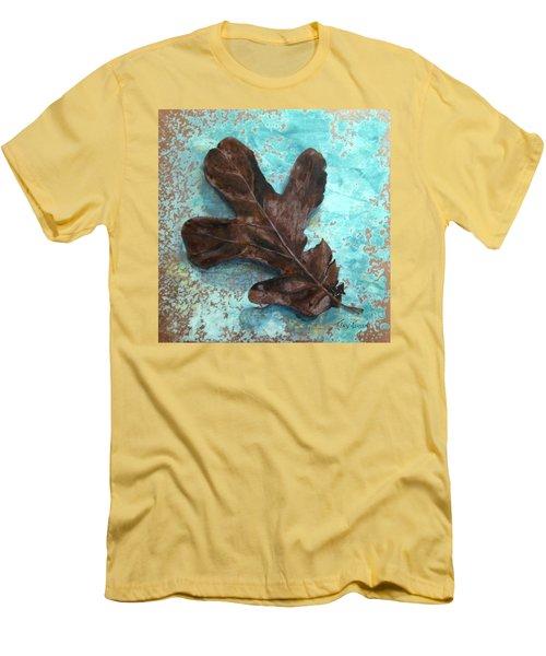 Winter Leaf Men's T-Shirt (Slim Fit) by T Fry-Green