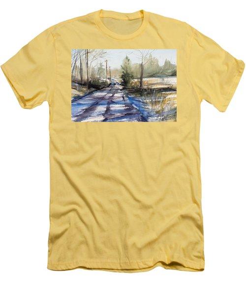 Winter Shadows  Men's T-Shirt (Slim Fit) by Judith Levins