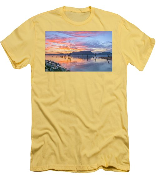 Winter Sky Woman In Peekskill Men's T-Shirt (Athletic Fit)