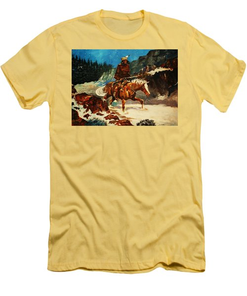 Winter Trek Men's T-Shirt (Slim Fit) by Al Brown