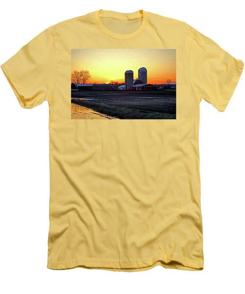 Men's T-Shirt (Slim Fit) featuring the photograph Wisconsin At Sunset by Jean Haynes