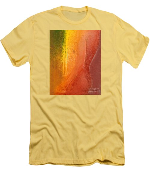 Men's T-Shirt (Slim Fit) featuring the digital art Woman In Window Light by Haleh Mahbod