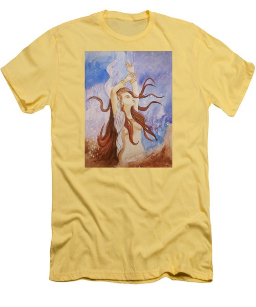 Men's T-Shirt (Slim Fit) featuring the painting Woman Unleashed by Teresa Beyer