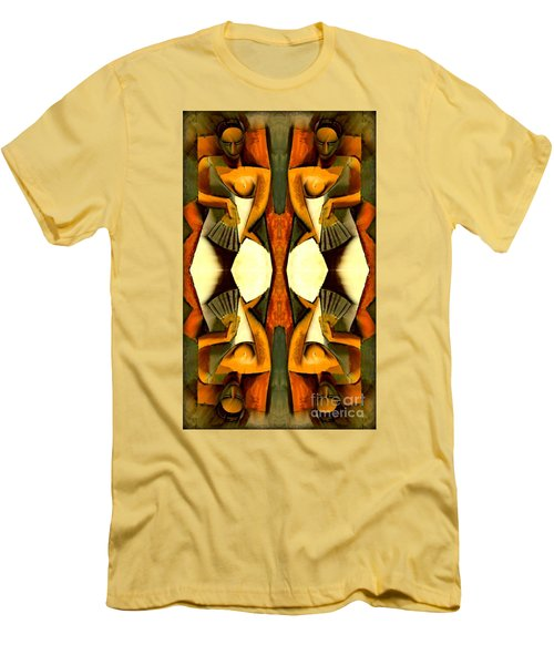 Woman With A Fan X4 Men's T-Shirt (Slim Fit) by Picasso