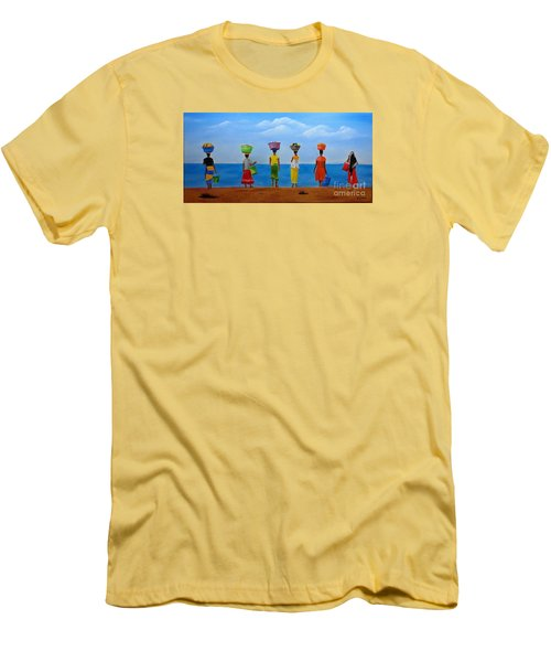 Women Of Africa  Men's T-Shirt (Slim Fit) by Bev Conover