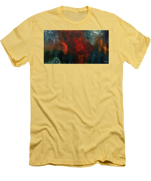 Men's T-Shirt (Slim Fit) featuring the painting Wonderland by Carmen Guedez