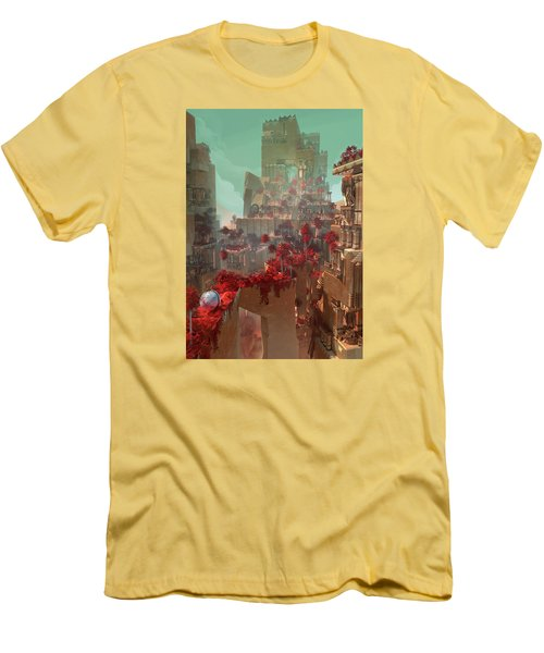 Wonders Hanging Garden Of Babylon Men's T-Shirt (Slim Fit) by Te Hu