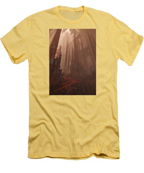 Wonders_temple Of Artmeis Men's T-Shirt (Slim Fit) by Te Hu