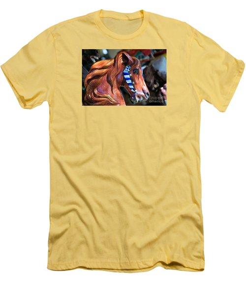 Wooden Horse Men's T-Shirt (Slim Fit) by John S