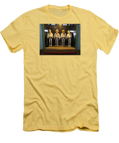 Men's T-Shirt (Slim Fit) featuring the photograph Wooden Rat Pack by John King