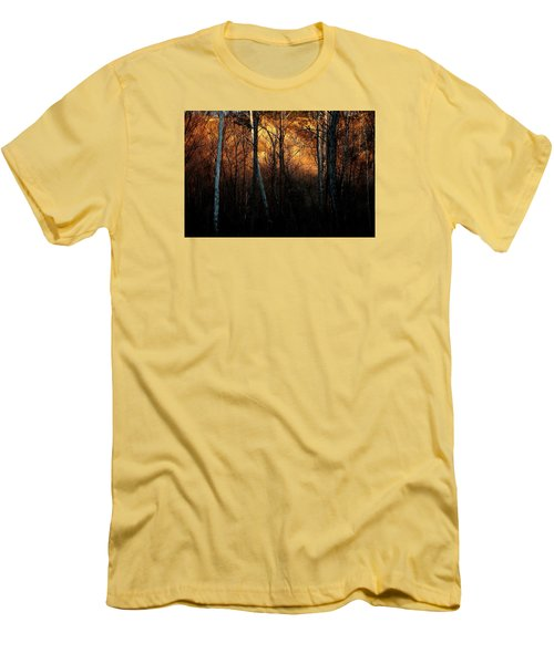 Men's T-Shirt (Slim Fit) featuring the photograph Woodland Illuminated by Bruce Patrick Smith