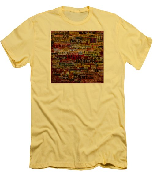 Men's T-Shirt (Slim Fit) featuring the mixed media Words Matter by Gloria Rothrock