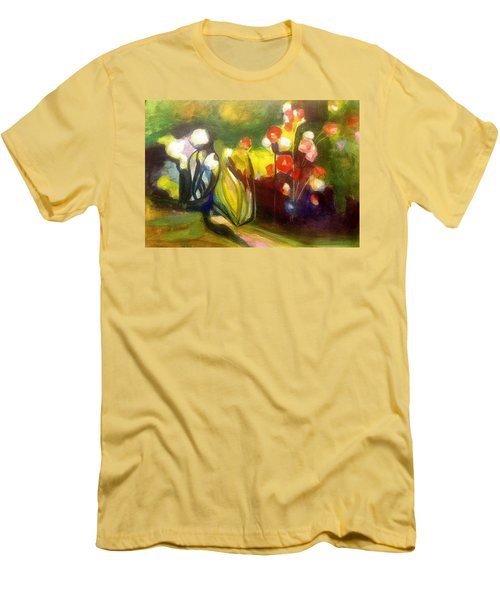 Warm Flowers In A Cool Garden Men's T-Shirt (Athletic Fit)