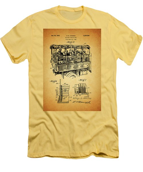 Ww2 Military Transport Vehicle Men's T-Shirt (Slim Fit) by Dan Sproul