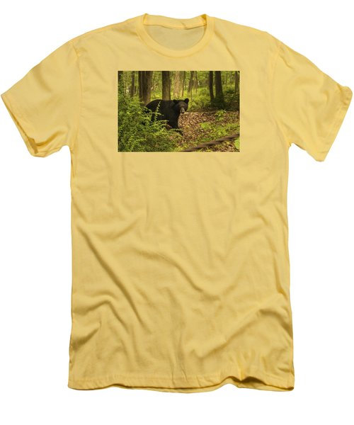 Yearling Black Bear Men's T-Shirt (Athletic Fit)