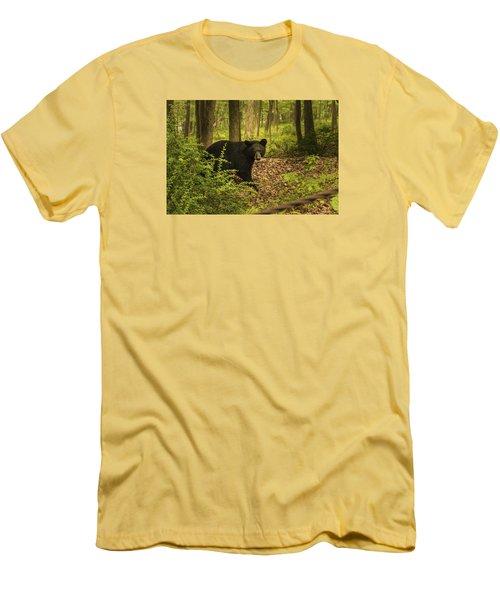 Yearling Black Bear Men's T-Shirt (Slim Fit)