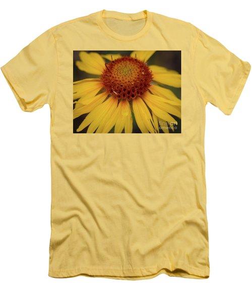 Yellow Cone Flower Men's T-Shirt (Slim Fit) by John Roberts