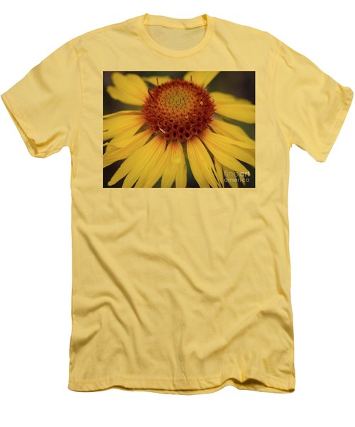 Yellow Cone Flower Men's T-Shirt (Athletic Fit)