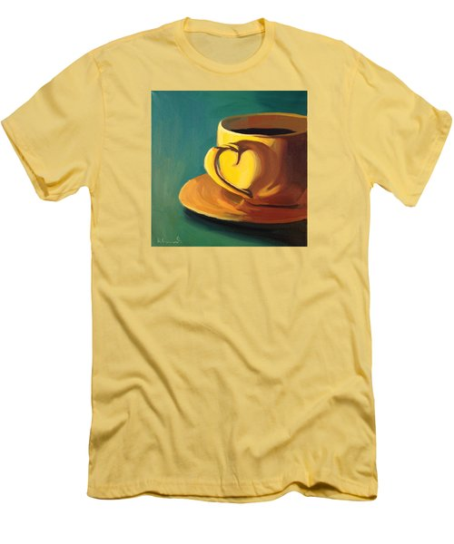 Yellow Java Men's T-Shirt (Slim Fit) by Nathan Rhoads