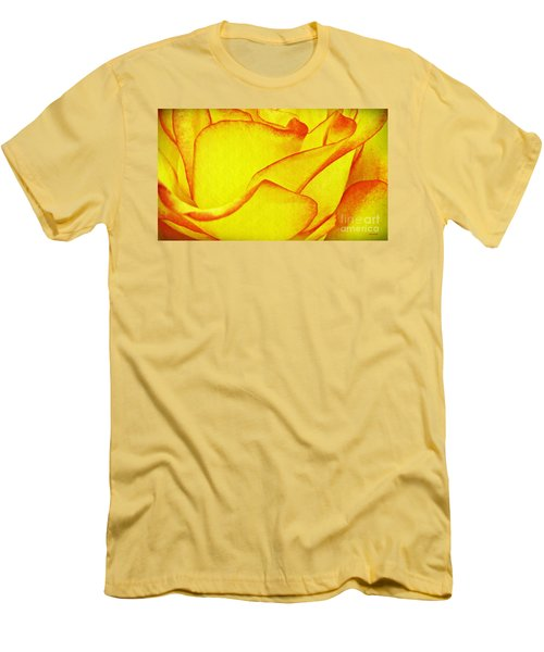 Yellow Rose Abstract Men's T-Shirt (Athletic Fit)