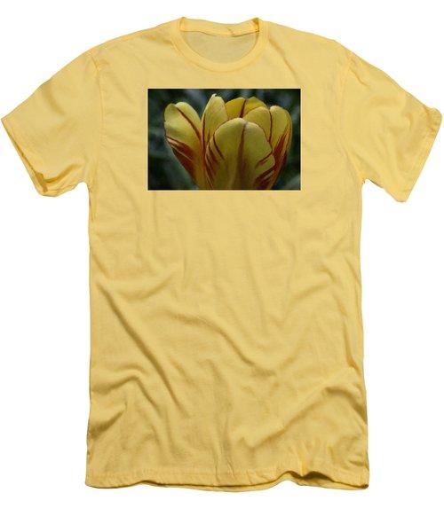 Yellow Tulip  Men's T-Shirt (Slim Fit) by Andre Faubert